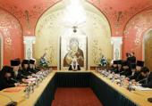 Святейший Патриарх Кирилл возглавил очередное совещание руководителей Синодальных учреждений Русской Православной Церкви