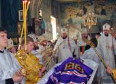 Состоялось отпевание и погребение новопреставленного епископа Кременчугского и Лубенского Тихона