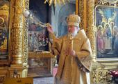 В праздник Иверской иконы Божией Матери и день памяти святителя Алексия Московского Святейший Патриарх Кирилл совершил Божественную литургию в Богоявленском кафедральном соборе