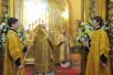Патриаршее служение в праздник Иверской иконы Божией Матери в Богоявленском кафедральном соборе. Лития по приснопамятным Патриархам Алексию I и Алексию II