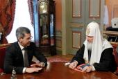 Предстоятель Русской Православной Церкви встретился с губернатором Астраханской области А.А. Жилкиным