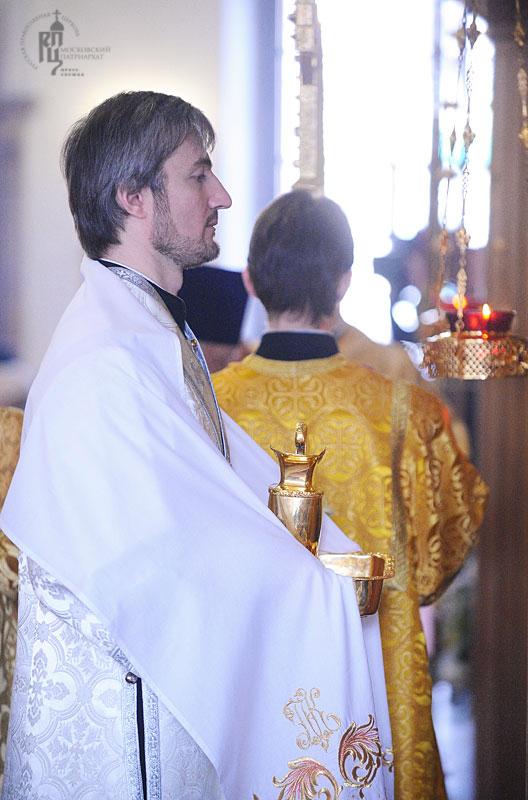 Патриаршее служение в Свято-Никольском храме в Покровском в Прощеное воскресенье