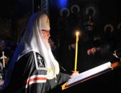 Святейший Патриарх Кирилл совершил повечерие с чтением Великого канона прп. Андрея Критского в Свято-Троицкой Сергиевой лавре