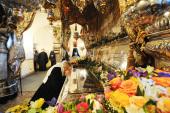 Во вторник первой седмицы Великого поста Святейший Патриарх Кирилл молился за уставным богослужением в Покровском ставропигиальном монастыре