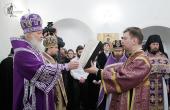 Святейший Патриарх Кирилл совершил чин великого освящения храма Успения Божией Матери в Печатниках