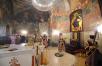 Патриаршее служение в Сретенском ставропигиальном мужском монастыре в канун дня памяти обретения главы Иоанна Предтечи