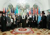 Предстоятель Русской Церкви встретился с членами Глобальной группы по лидерству при Всемирном экономическом форуме в Давосе