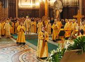 В праздник Торжества Православия Предстоятель Русской Православной Церкви совершил Божественную литургию в Храме Христа Спасителя