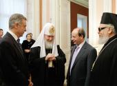 Предстоятель Русской Православной Церкви посетил прием в посольстве Греции по случаю праздника Торжества Православия