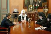 Святейший Патриарх Кирилл принял губернатора Магаданской области Н.Н. Дудова