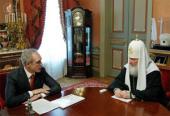 Святейший Патриарх Кирилл встретился с губернатором Ульяновской области С.И. Морозовым