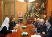 Святейший Патриарх Московский и всея Руси Кирилл встретился с Главой Палестинской национальной администрации Махмудом Аббасом