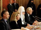 Святейший Патриарх Кирилл принял участие в очередном заседании Общественно-попечительского совета Кронштадтского Морского собора