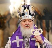 Проповедь Святейшего Патриарха Кирилла в неделю 3-ю Великого поста, Крестопоклонную, в Успенском Патриаршем соборе Кремля