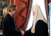 Предстоятель Русской Православной Церкви принял посла Италии в России Антонио Ланди