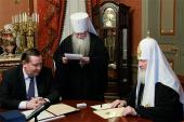 Святейшему Патриарху Кириллу представили проект возведения нового храма в центре Луганска