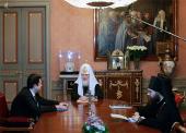 Святейший Патриарх Кирилл принял полномочного представителя Президента России в Уральском федеральном округе