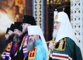 Слово Святейшего Патриарха Кирилла после Божественной литургии в неделю 4-ю Великого поста в Храме Христа Спасителя