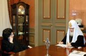 Святейший Патриарх Кирилл встретился с народной артисткой СССР Г.П. Вишневской