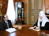 Предстоятель Русской Православной Церкви встретился с послом Японии в Москве Масахару Коно