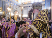 Святейший Патриарх Кирилл удостоил богослужебных наград ряд клириков г. Москвы