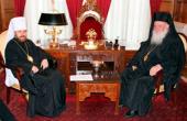 Состоялась встреча Блаженнейшего Архиепископа Афинского и всей Эллады Иеронима с митрополитом Волоколамским Иларионом