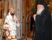Митрополит Волоколамский Иларион возглавил воскресную Божественную литургию в афинском храме во имя великомученика Пантелеимона в Ахарнон