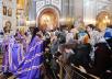 Патриаршее служение в Храме Христа Спасителя в неделю 5-ю Великого поста. Хиротония архимандрита Артемия (Снигура) во епископа Петропавловского и Камчатского
