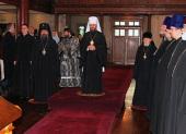 Митрополит Волоколамский Иларион посетил Успенский собор Сурожской епархии
