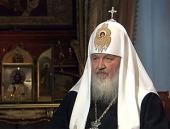 В канун Светлого Христова Воскресения на Первом канале пройдет показ документального фильма «Пасха» с участием Святейшего Патриарха Кирилла