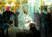 В Лазареву субботу митрополит Волоколамский Иларион совершил чин присоединения к Православной Церкви временно отпавших от нее