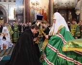 Святейший Патриарх Кирилл возглавил чин наречения архимандрита Николая (Чашина) во епископа Звенигородского