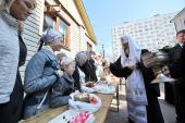 В Великую субботу Предстоятель Русской Церкви посетил ряд московских храмов