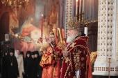 В день праздника Светлого Христова Воскресения Предстоятель Русской Церкви совершил великую вечерню в Храме Христа Спасителя