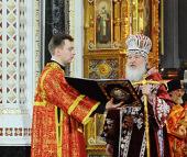 Слово Святейшего Патриарха Кирилла после Божественной литургии в праздник Светлого Христова Воскресения