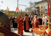 Предстоятель Русской Церкви совершил чин освящения закладного камня в основание храма памяти жертв теракта на Дубровке