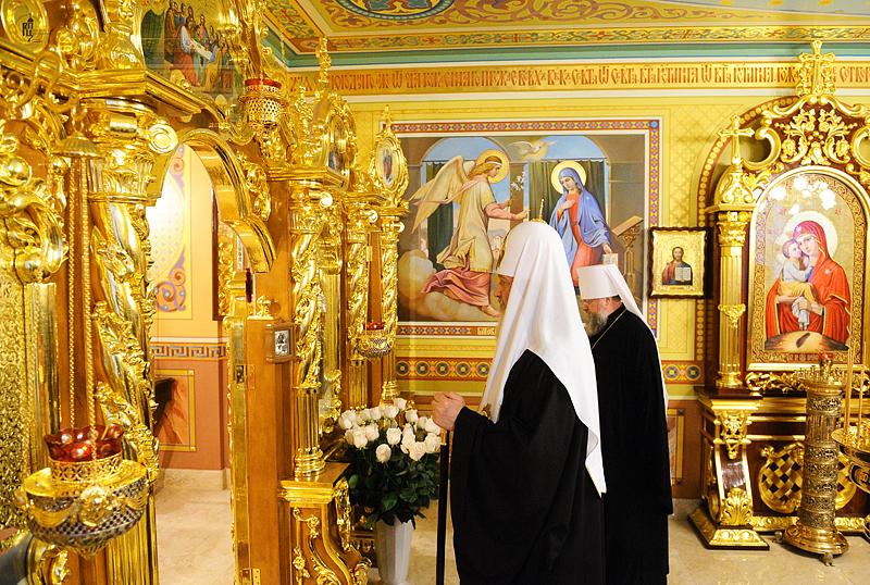 Первосвятительский визит в Донецкую и Харьковскую епархии. Прибытие в Донецк