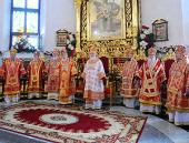 Предстоятель Русской Церкви возглавил служение Божественной литургии в Спасо-Преображенском соборе г. Донецка