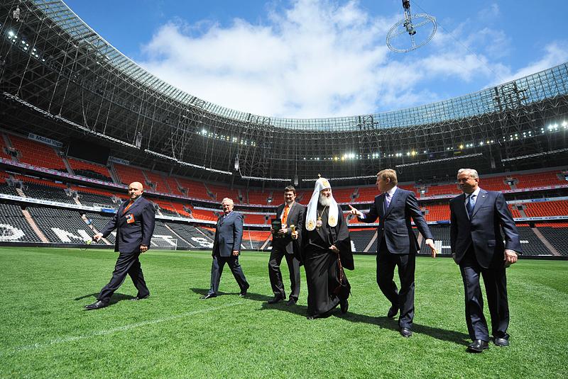 Первосвятительский визит в Донецкую и Харьковскую епархии. Посещение стадиона «Донбасс Арена» в г. Донецке