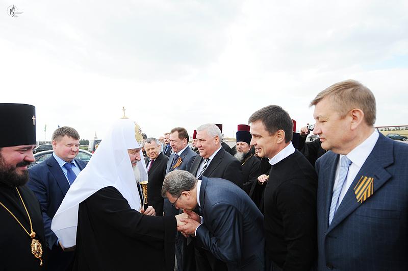 Первосвятительский визит в Донецкую и Харьковскую епархии. Проводы в аэропорту Харькова