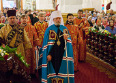 Блаженнейший Митрополит Чешских земель и Словакии Христофор совершил Божественную литургию в Вознесенском кафедральном соборе г. Алма-Аты