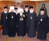 Состоялась встреча председателя Отдела внешних церковных связей митрополита Илариона со Cвятейшим Патриархом Болгарским Максимом