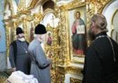 В ходе поездки по епархиям Украинской Православной Церкви Блаженнейший митрополит Киевский Владимир совершил Литургию в родном селе