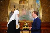 Президент России поздравил Предстоятеля Русской Церкви с днем тезоименитства
