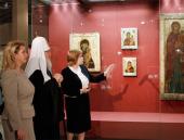 Святейший Патриарх Кирилл посетил выставку «Святая Русь» в Третьяковской галерее