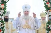 В праздник Вознесения Господня Святейший Патриарх Кирилл совершил Литургию на подворье Саввино-Сторожевского ставропигиального монастыря в Краснодарском крае