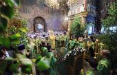 В канун праздника Святой Троицы Предстоятель Русской Церкви совершил всенощное бдение в Троице-Сергиевой лавре