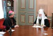 Состоялась встреча Предстоятеля Русской Церкви с новым апостольским нунцием в России архиепископом Иваном Юрковичем