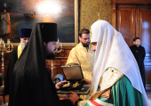 Святейший Патриарх Кирилл возглавил чин наречения архимандрита Романа (Лукина) во епископа Якутского и Ленского