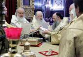 Предстоятель Русской Церкви возглавил хиротонию архимандрита Романа (Лукина) во епископа Якутского и Ленского